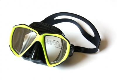 Maska Bare DUO B / czarno-żółta