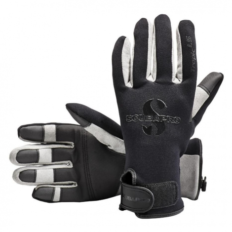 Rękawice Tropic  1.5 mm czarno-szare