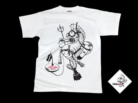 Koszulka TecLine SEA HORSE - biała